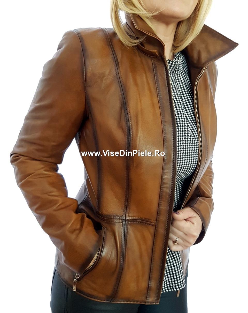 los angeles pentru întreaga familie super calitate Vise din Piele - REDUCERI :: Jacheta dama din piele naturala TF33-M