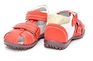 Sandale piele copii RED